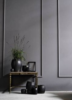 Wall Moulding Ideas Gray Entryway