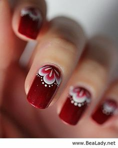 I don't care for long or painted nails... I just thought it was interesting how much this design reminded me of Syttende Mai (I'm sure I spelled that wrong)