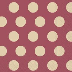 IHR Big Dots Maroon and Gold Polka Dot Printed 3-Ply Paper Cocktail Napkins Wholesale C449409