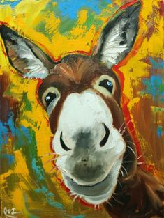 Drunken Cows - Whimsical Fine Art by Roz Farm Paintings, Animal Paintings, Watercolor Animals, Watercolor Art, Animal Heads, Horse Art, Whimsical Art, Illustrations, Rock Art