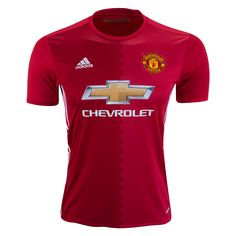 Manchester United 16/17 Home Soccer Jersey - Check out the latest British Premier League Soccer Jerseys and your favourite clubs apparel for 2016/17 at WorldSoccershop.com
