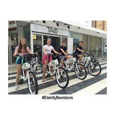 Our young customers enjoying #Benidorm #taobike #electrifybenidorm