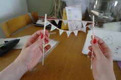 Cake Topper Bunting Bunting, Cake Toppers, Triangle, Playing Cards, Wedding, Valentines Day Weddings, Garlands, Playing Card Games, Mariage