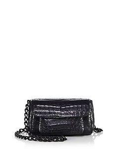 Nancy Gonzalez Mini Crocodile Chain Crossbody Bag