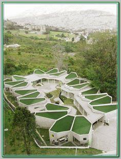Jardín Infantil Pajarito La Aurora,© Plan:b + Ctrl G Plans Architecture, Education Architecture, Green Architecture, Futuristic Architecture, Landscape Architecture, Landscape Design, Architecture Design, Kindergarten Design, Roof Styles