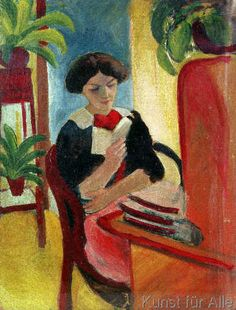August Macke - Elizabeth Reading