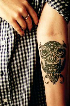 Cute & cool owl tattoo