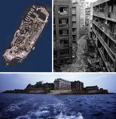 Hashima Island, Japan. Once home to over 5000 residents now completely abandon and left to rot!