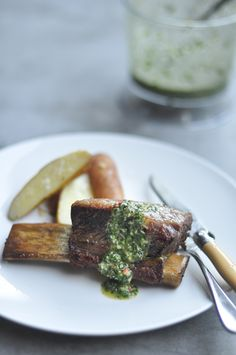 #graceinfood  beef ribs with chimichurri  Get a free Cuisinart CookWare Set