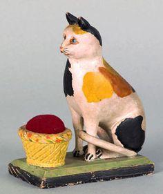 Cat pin cushion
