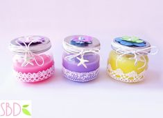 Candele profumate fatte in casa (no cera) - Scented candles home-made (no wax) Diy Candles, Scented Candles, Decorative Candles, Diy And Crafts, Arts And Crafts, Candels, Birthday Party Favors, Christmas Time, Mason Jars