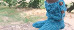 Knitting slippers free pattern with video tutorial