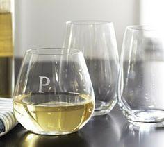 Full of Great Ideas: F-ing Retirement Gift - Monogrammed Wine Glasses