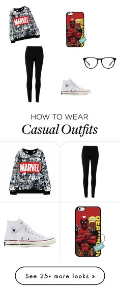 """Geek Casual"" by hallberg on Polyvore featuring Max Studio and Converse"