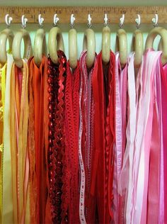 Love this idea for scarves and belts (ribbons, trims....!)