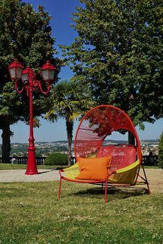 Roche Bobois | Traveler armchair | designed by Stephen Burks