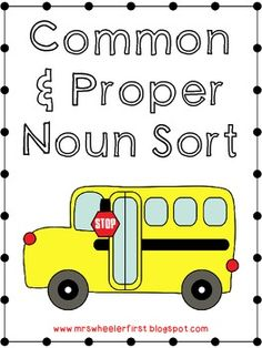 Common and Proper Noun Sort FREEBIE