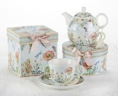 Gift Boxed Porcelain Tea For One - Dragonfly