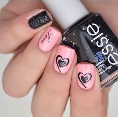 Lovely manicure by @beautyaddictedd using our Small Heart Swirl Nail Vinyls found at snailvinyls.com