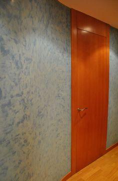 Puerta de madera con cristal traslucido transparent - Tipos de puertas de madera ...