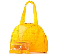 lug life 3 piece weekend/workout combo in yellow - another great weekend bag
