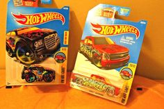 HOT WHEELS ART CARS CHRYSLER 300 AND SILVERADO TRUCK 2 CAR LOT NEW  | eBay
