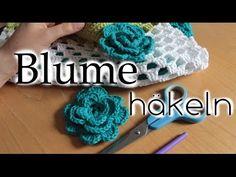 Blume häkeln - Accessoire Häkeltasche - Anleitung Teil 3 von 4 - YouTube
