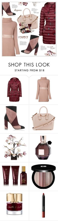 """""""Perfect Puffer Jackets"""" by stranjakivana ❤ liked on Polyvore featuring Burberry, Valentino, Gianvito Rossi, Givenchy, Canopy Designs, Viktor & Rolf, Oribe, Edward Bess, Smith & Cult and NARS Cosmetics"""