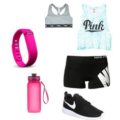 Dance Class by luluheiz on Polyvore featuring polyvore fashion style Victoria's Secret PINK Victoria's Secret NIKE Fitbit Sweaty Betty