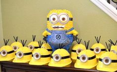 minion helmets for having fun at the party