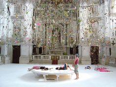 """Falling Garden"" by Gerda Steiner and Jorg Lenzlinger. Installation Art"