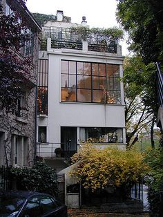 birdcagewalk: cavetocanvas:Ozenfant House and Studio - Le Corbusier, Places Architecture) Style At Home, Future House, My House, Town House, Architecture Design, Installation Architecture, Building Architecture, Windows Architecture, Amazing Architecture