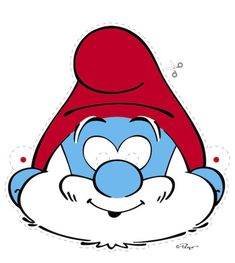 Free Printable Halloween Masks - Smurf Masks, Smurfette, Brainy and Papa Smurf