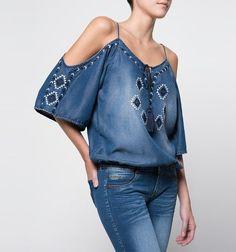 Cold shoulder blouse to make