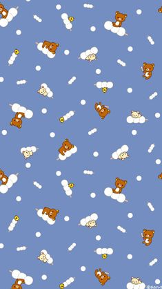 Rilakkuma always so cute and adorable! Soft Wallpaper, Kawaii Wallpaper, Cartoon Wallpaper, Pattern Wallpaper, Cute Wallpaper Backgrounds, Cute Wallpapers, Tumblr Wallpaper, Iphone Wallpapers, Rilakuma Wallpapers