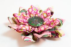 At Joggles -- Video Tutorial for Kanzashi Flowers using the Clover Kanzashi Flower Makers.