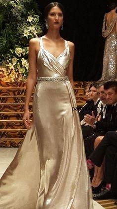 vestido plateado  2014 -