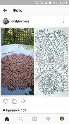 Crochet Pouf, Crochet Carpet, Crochet Potholders, Crochet Tablecloth, Diy Crochet, Free Crochet Doily Patterns, Crochet Doily Diagram, Crochet Squares, Crochet Designs
