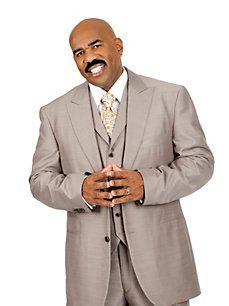 Men's Suit Separates - Steve Harvey Taupe Suit Jacket - K Fashion Superstore Big Man Suits, Cool Suits, Mens Suits, Steve Harvey Suits, Men's Suit Separates, Handsome Black Men, Men's Wardrobe, Suit And Tie, Well Dressed Men