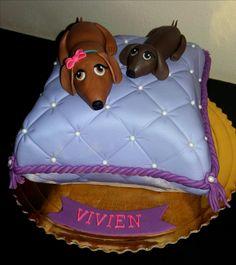 daschund cakes