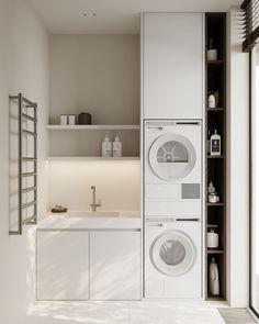 Laundry room #laundryroom #modernlaundry #minimalisticlaundry #minimalism #minimalisticarchitecture #minimalisticinterior #architecture #modernarchitecture #design #moderndesign #ideasforlaundryroom Minimalist Interior, Modern Architecture, Laundry Room, Minimalism, Modern Design, Home Appliances, House, House Appliances, Home