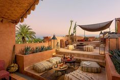 Hotel / events / spa / rooftop in Marrakech Related posts:Terrace decoration inspirationBrooklyn roof garden Julie Farris by Matthew WilliamsTo inspire your own modern rooftop deck transformation, here are 10 examples of . Moroccan Design, Moroccan Decor, Moroccan Style, Moroccan Garden, Rooftop Terrace Design, Rooftop Garden, Terrace Decor, Rooftop Lounge, Outdoor Lounge
