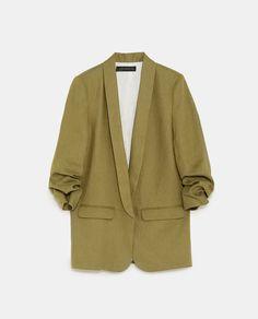 Image 8 of from Zara Zara Tops, Blazers, Blazer Fashion, Hijab Fashion, Women's Fashion, Manga, Professional Attire, Pli, Outfit