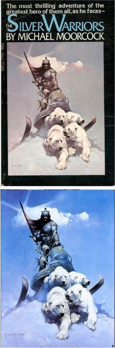 The Silver Warriors (Alternate title Phoenix in Obsidian) by Michael Moorcock - 1973 Dell Books Frank Frazetta, Watercolor Paintings Abstract, Watercolor Artists, Abstract Oil, Painting Art, Fantasy Comics, Fantasy Art, Michael Moorcock, Street Art Utopia