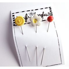 Sewing Pins - Handmade Ceramic | Jennifer Jangles