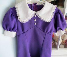 Violet 60s Dress Girls 5/6 by lishyloo on Etsy, $18.00