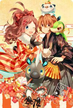 Naru (Andante), GAME FREAK, Nintendo, Pokémon, Oshawott, Blitzle
