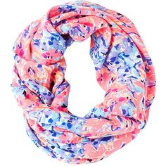 Lilly Pulitzer Lilly Pulitzer Resort Infinity Loop - Coco Coral Crab (4.220 RUB) ❤ liked on Polyvore featuring accessories, scarves, lilly pulitzer scarves, print scarves, circle scarf, tube scarves and loop scarves