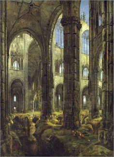 Carl Blechen - Gotische Kirchenruine