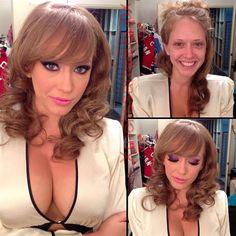 Porn Stars Before and After Their Makeup Makeover.  Kagney Linn Karter